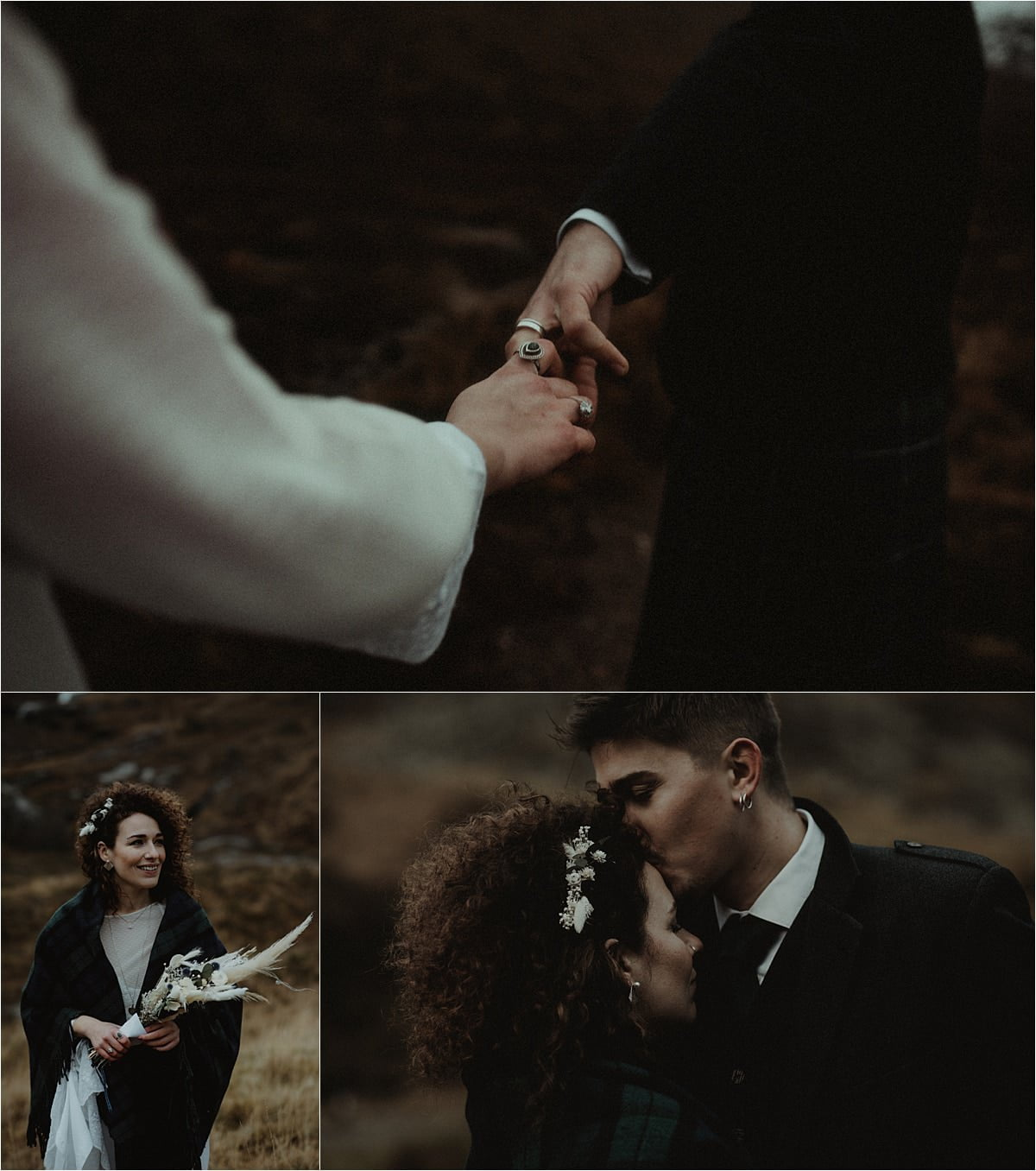A couple together during their elopement in scotland