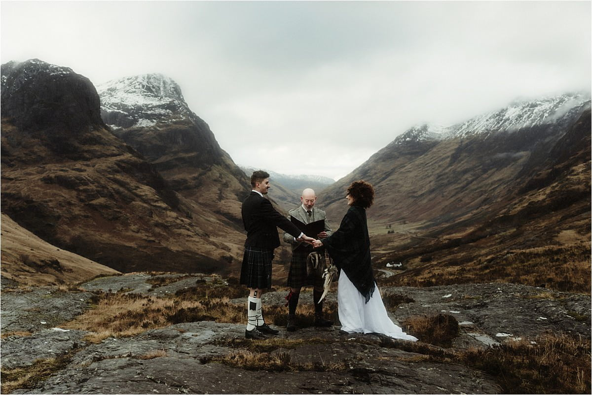 Glencoe elopement ceremony