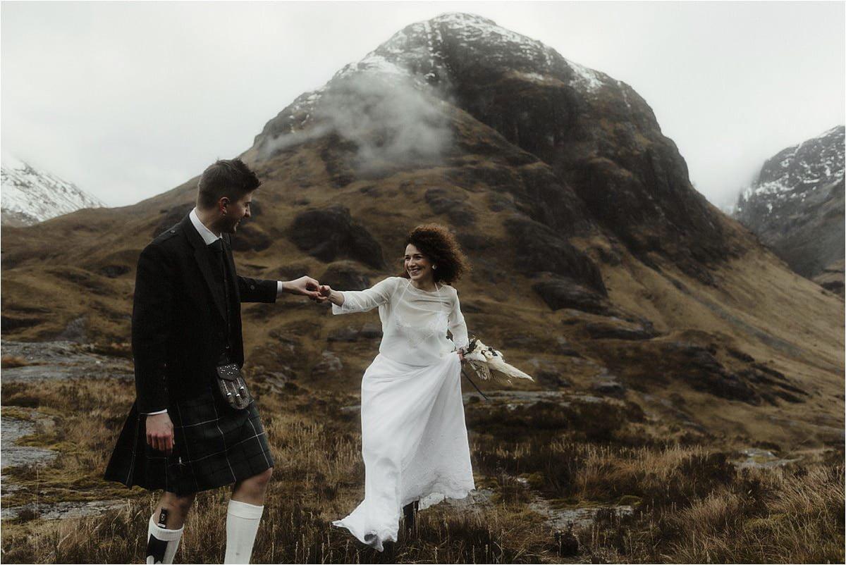 Glencoe elopement couple