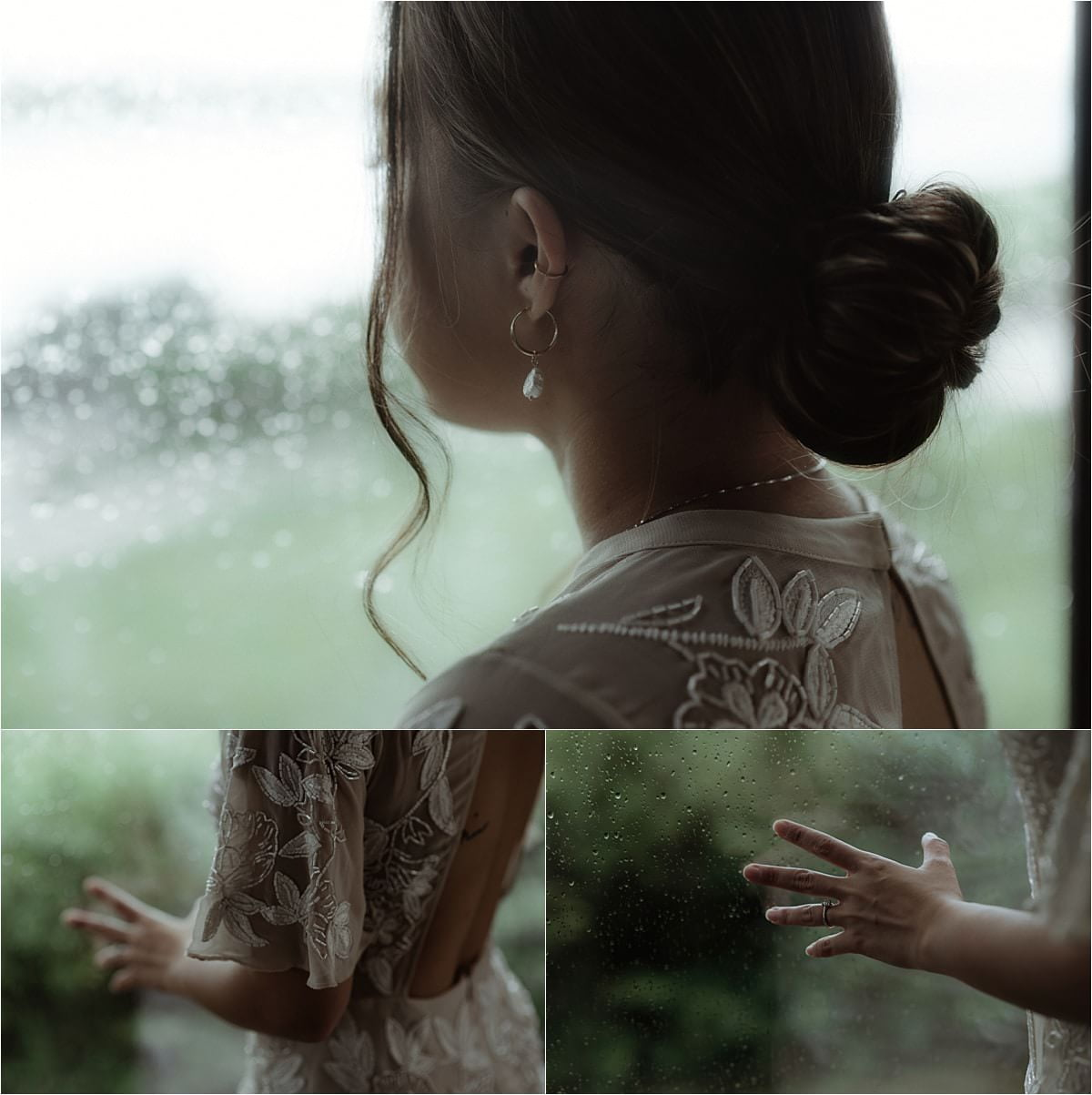 bride during elopement on SKye