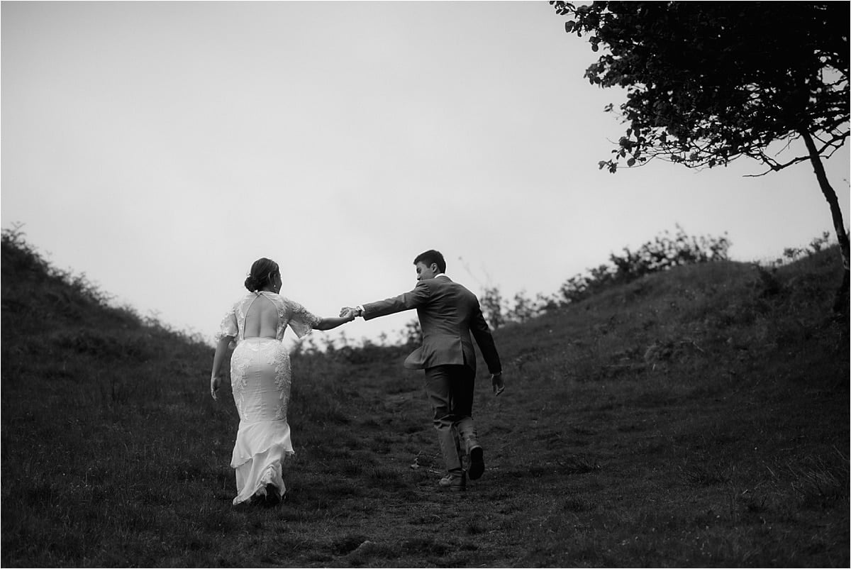 james and Michelle, married on the Isle of skye