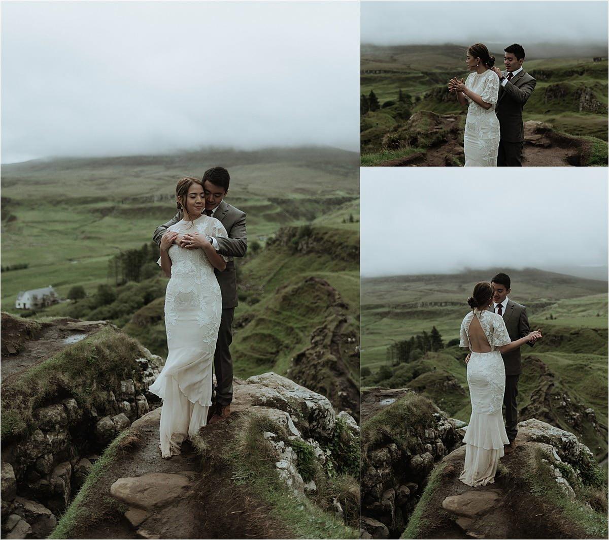 fairy glen elopement on the isle of skye