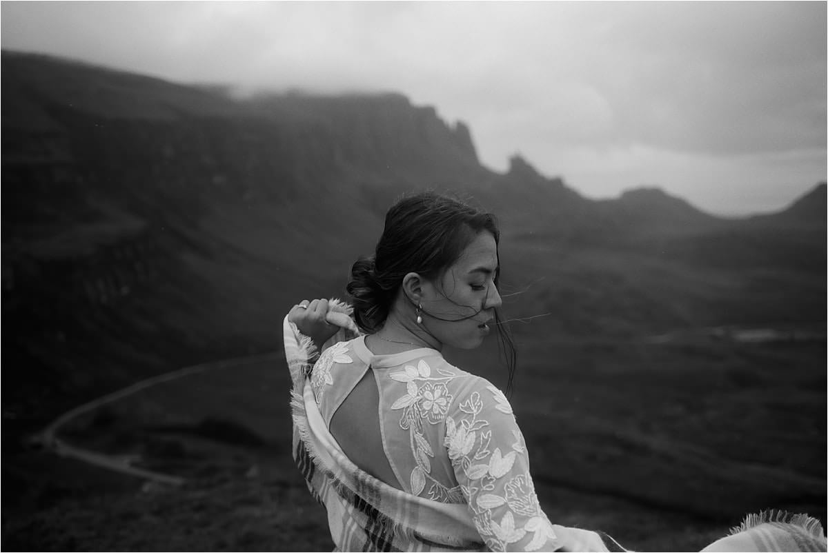 bride standing at the quiraing