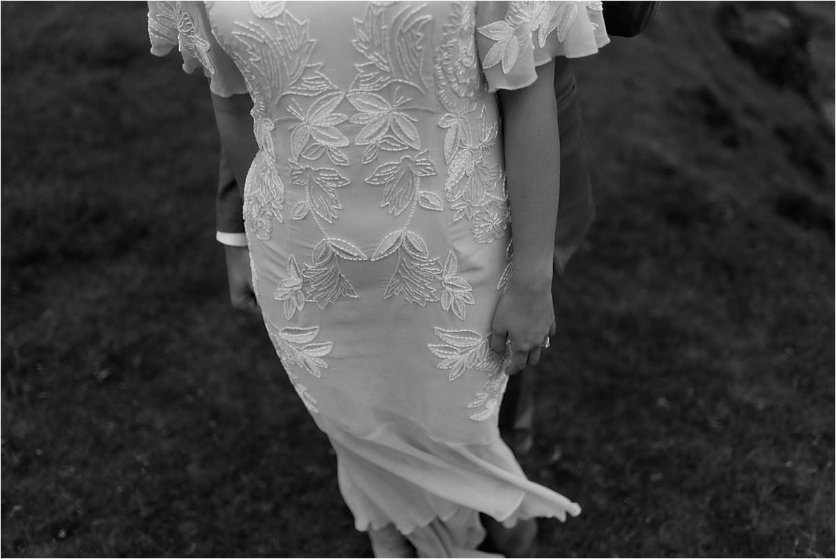 bride dress on the isle of skye