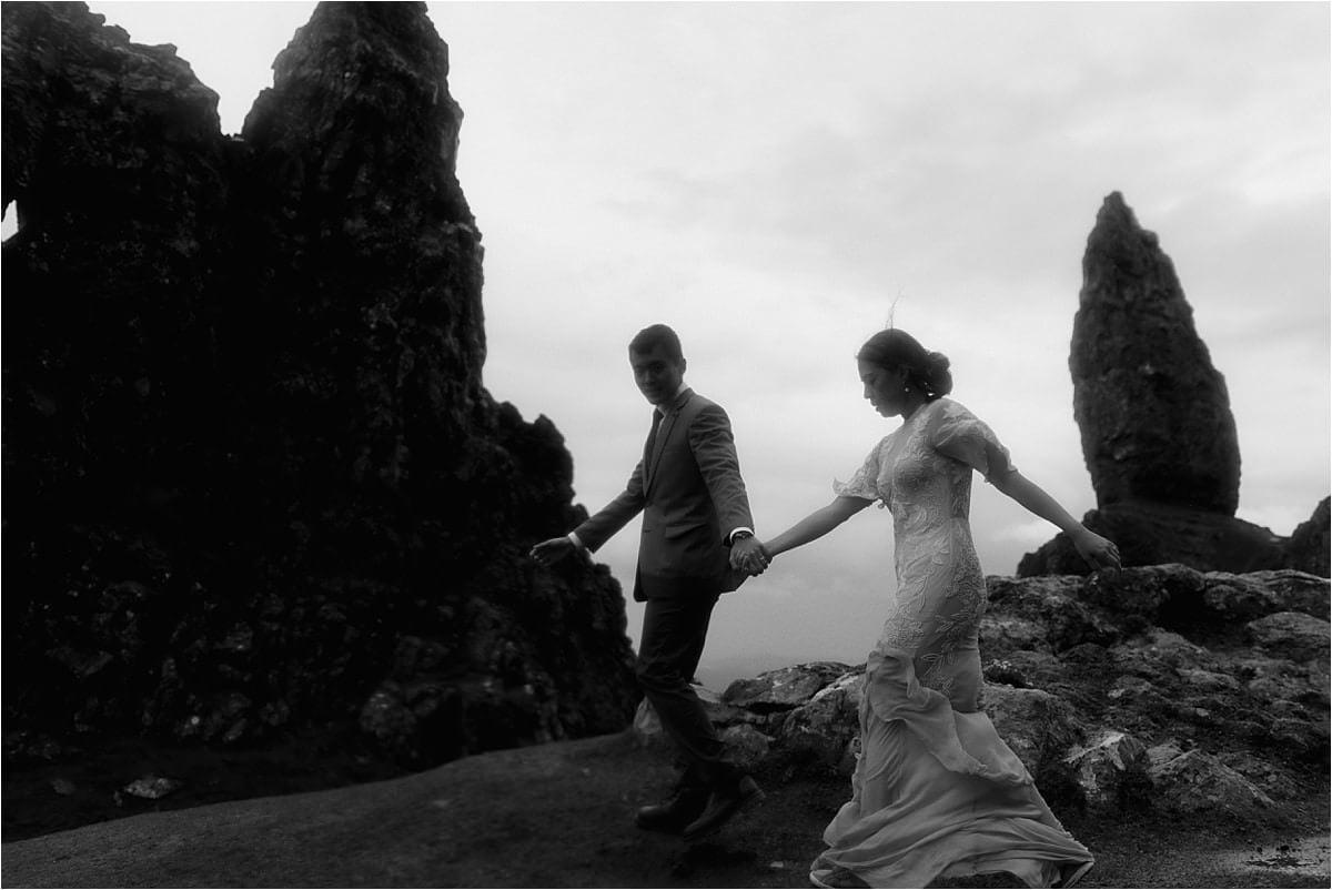 isle of skye elopement couple