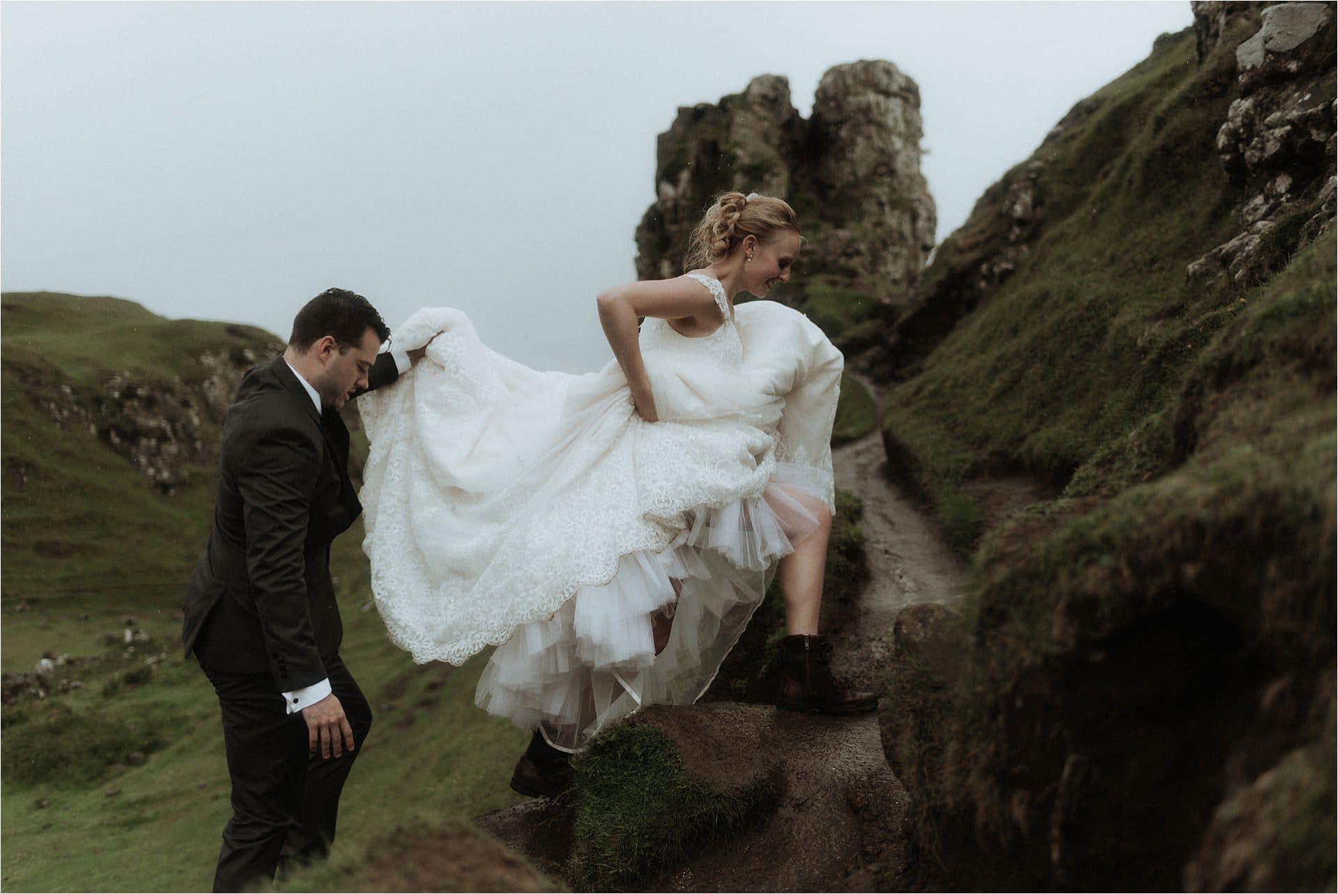 isle of skye wedding at the quiraing