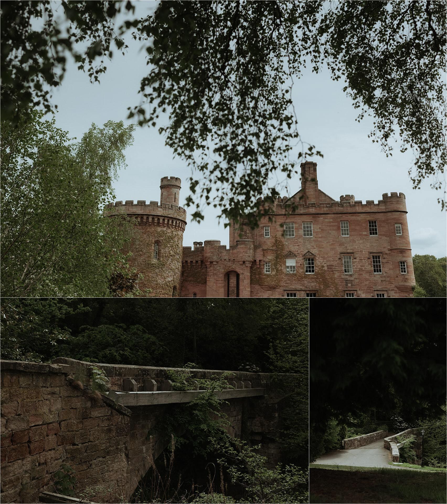 dalhousie castle during a wedding
