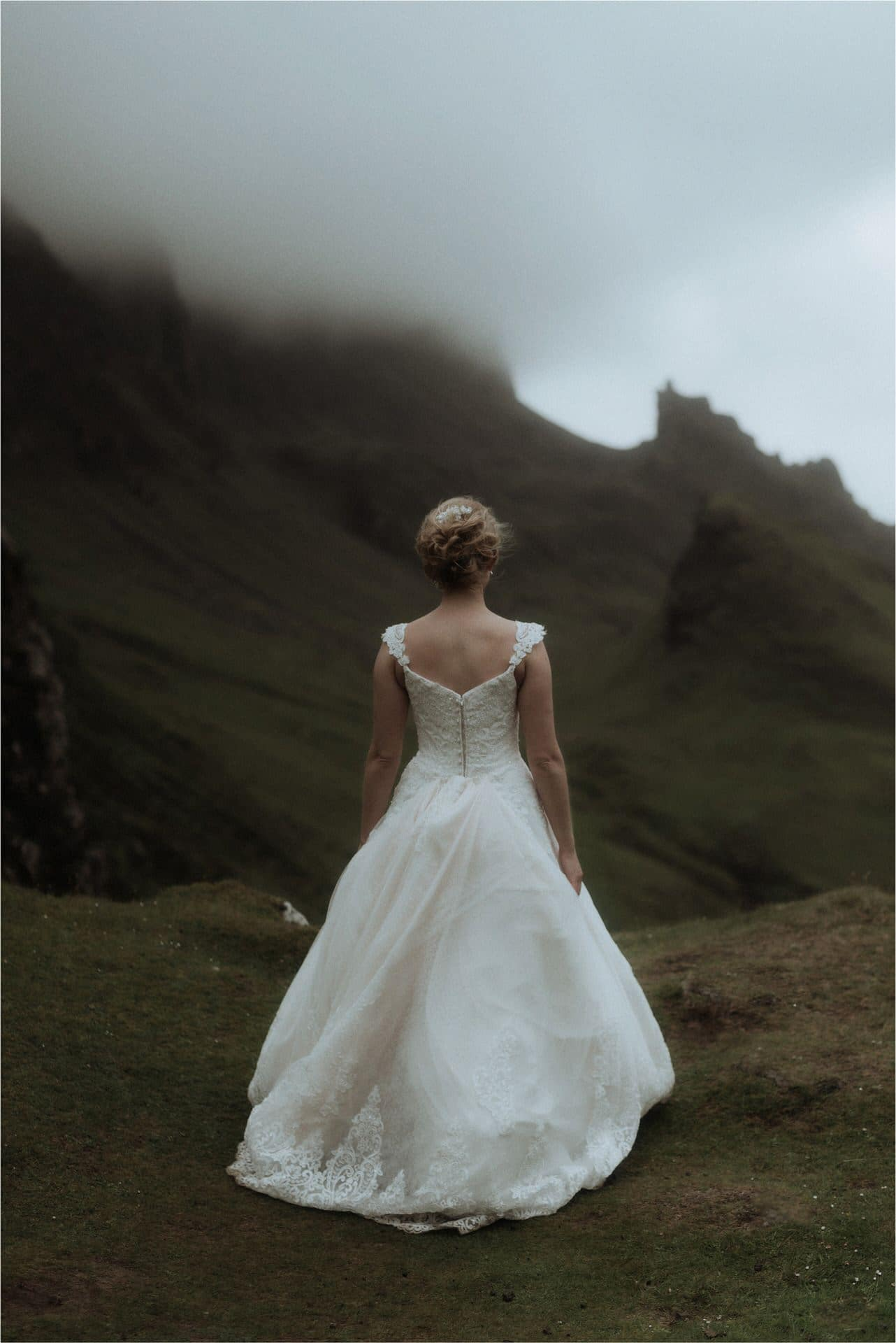 beautiful bride on isle of skye by scotland wedding photographer