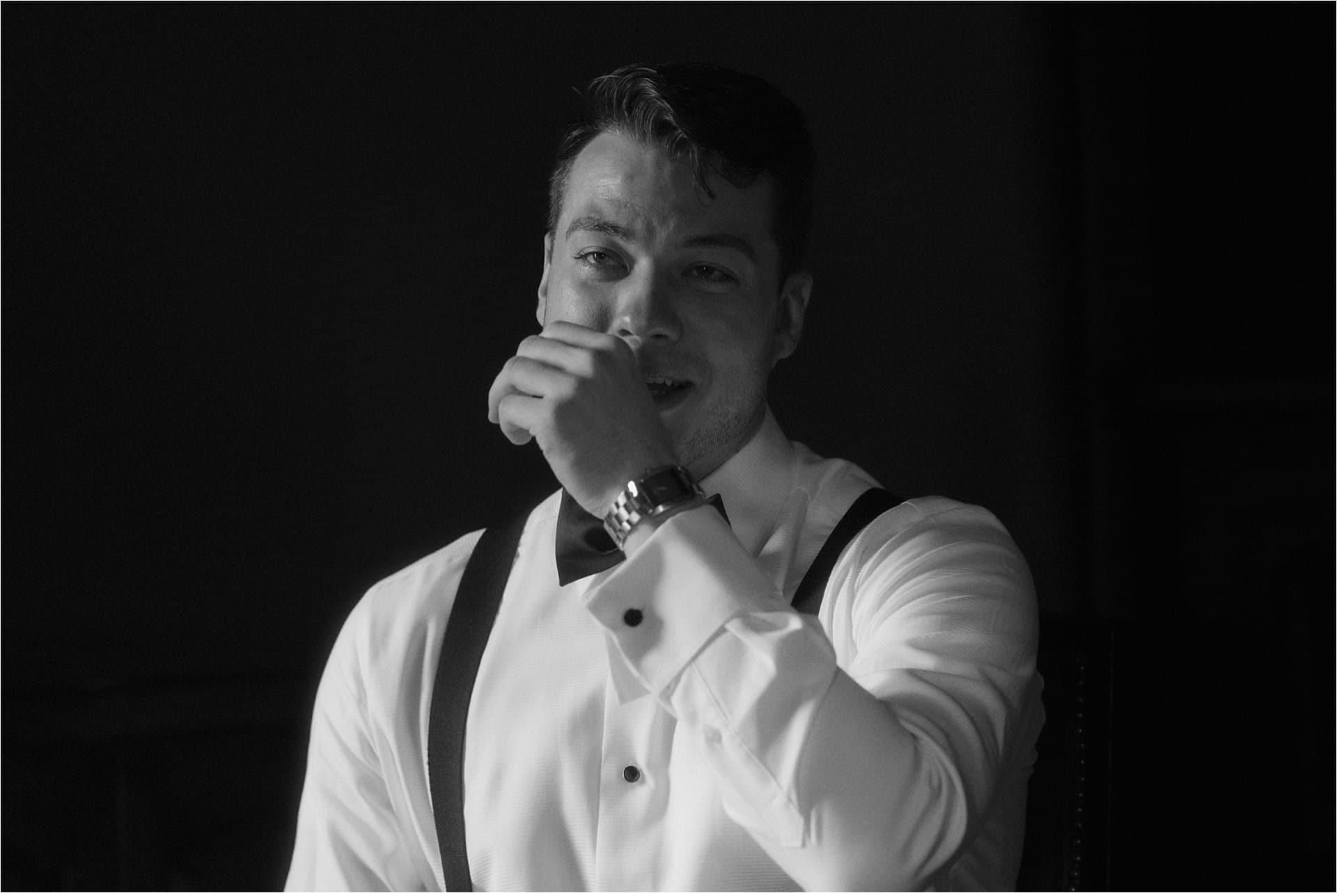 scotland wedding groom cries