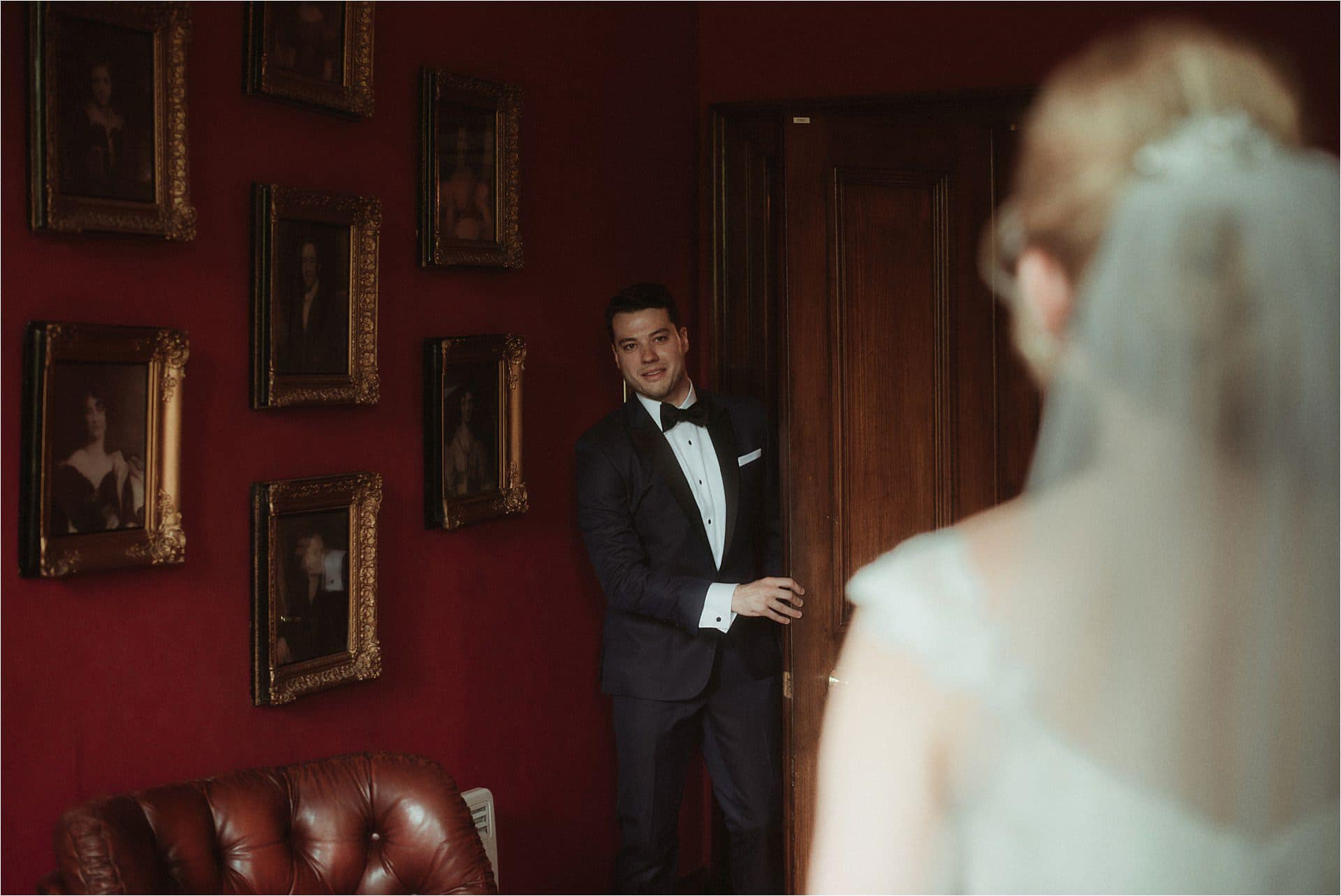 first look at a wedding in scotland