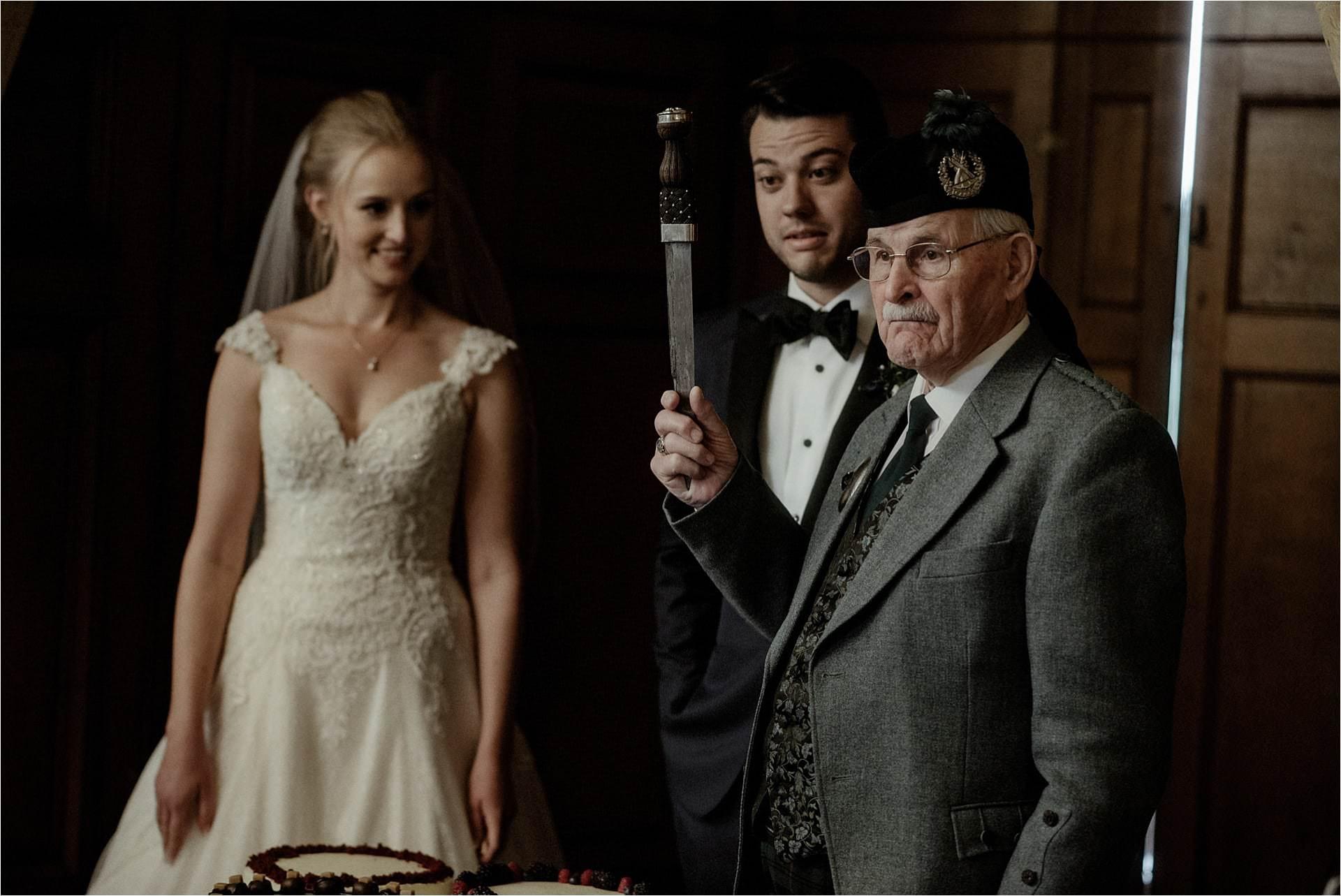 scottish wedding dalhousie castle