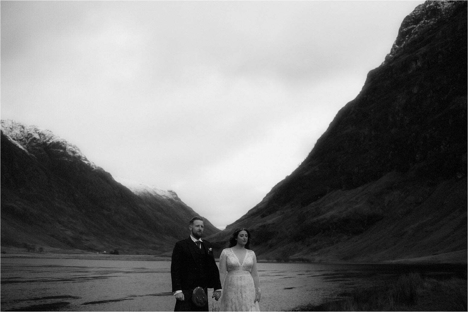 bride and groom during scottish elopement