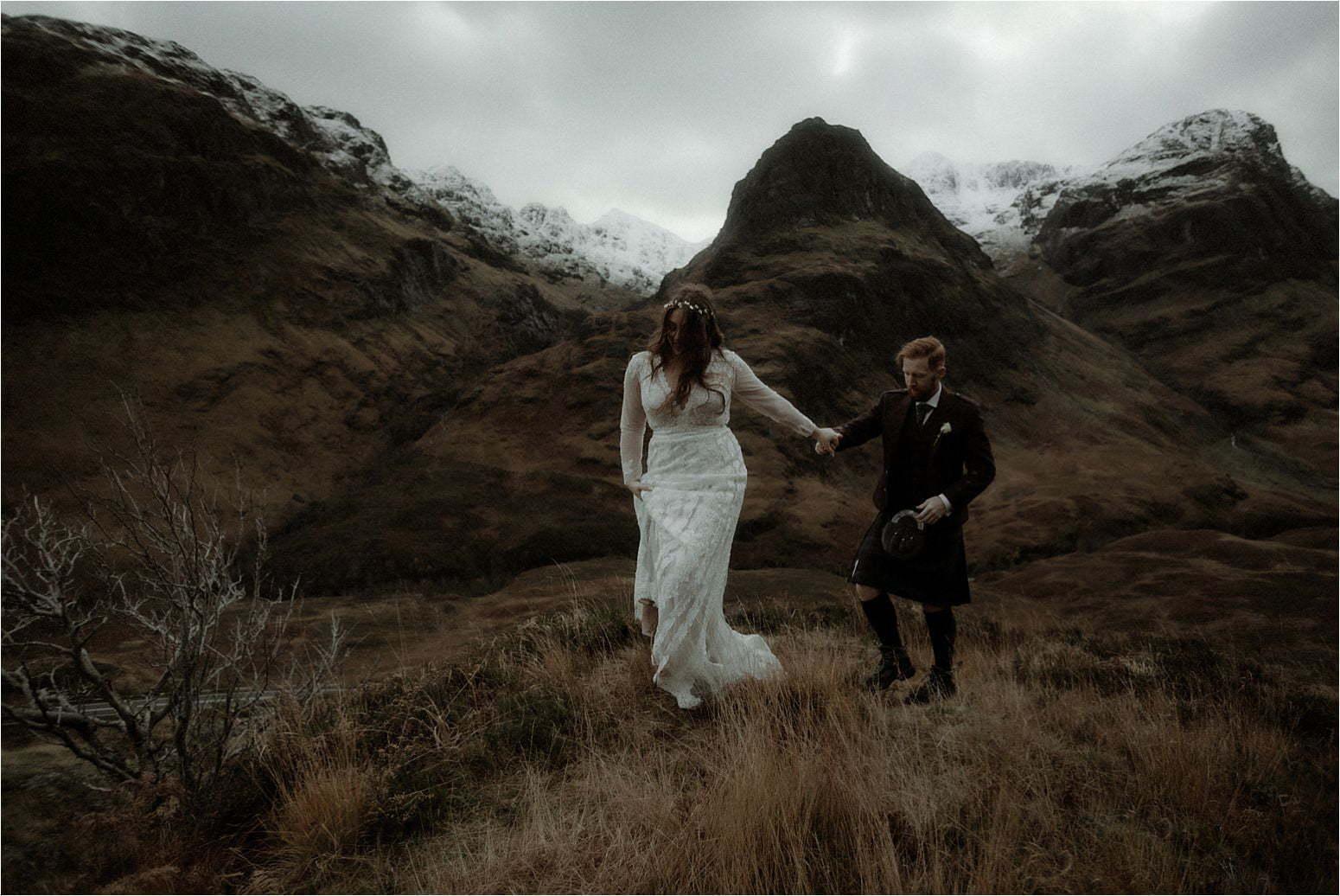 elope in scotland couple in gelncoe