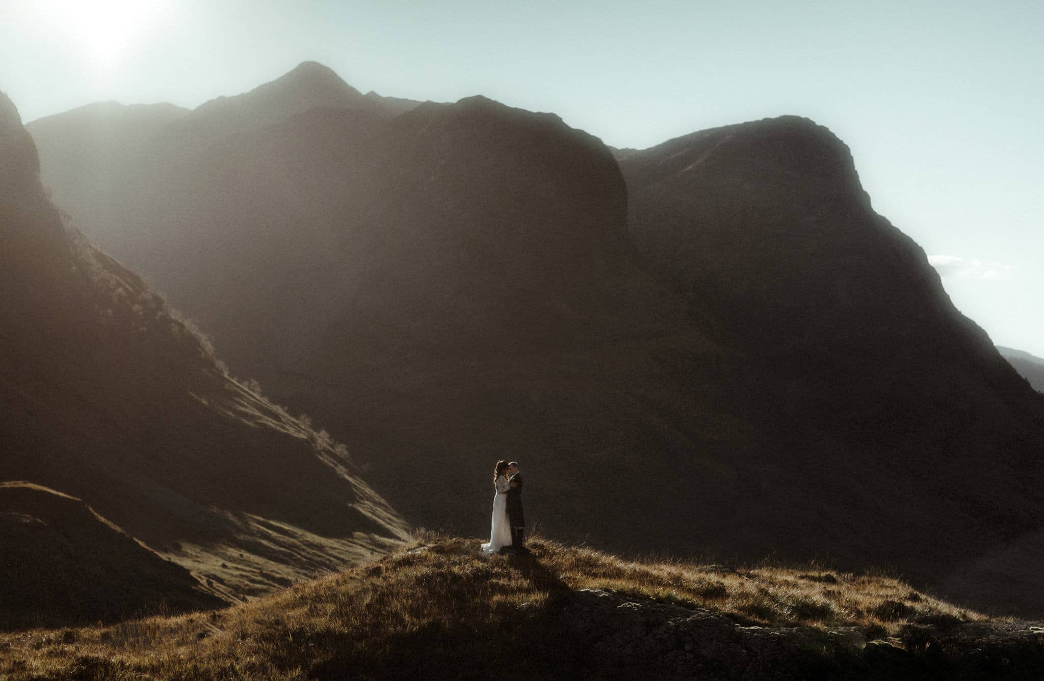 couple in glencoe after their wedding