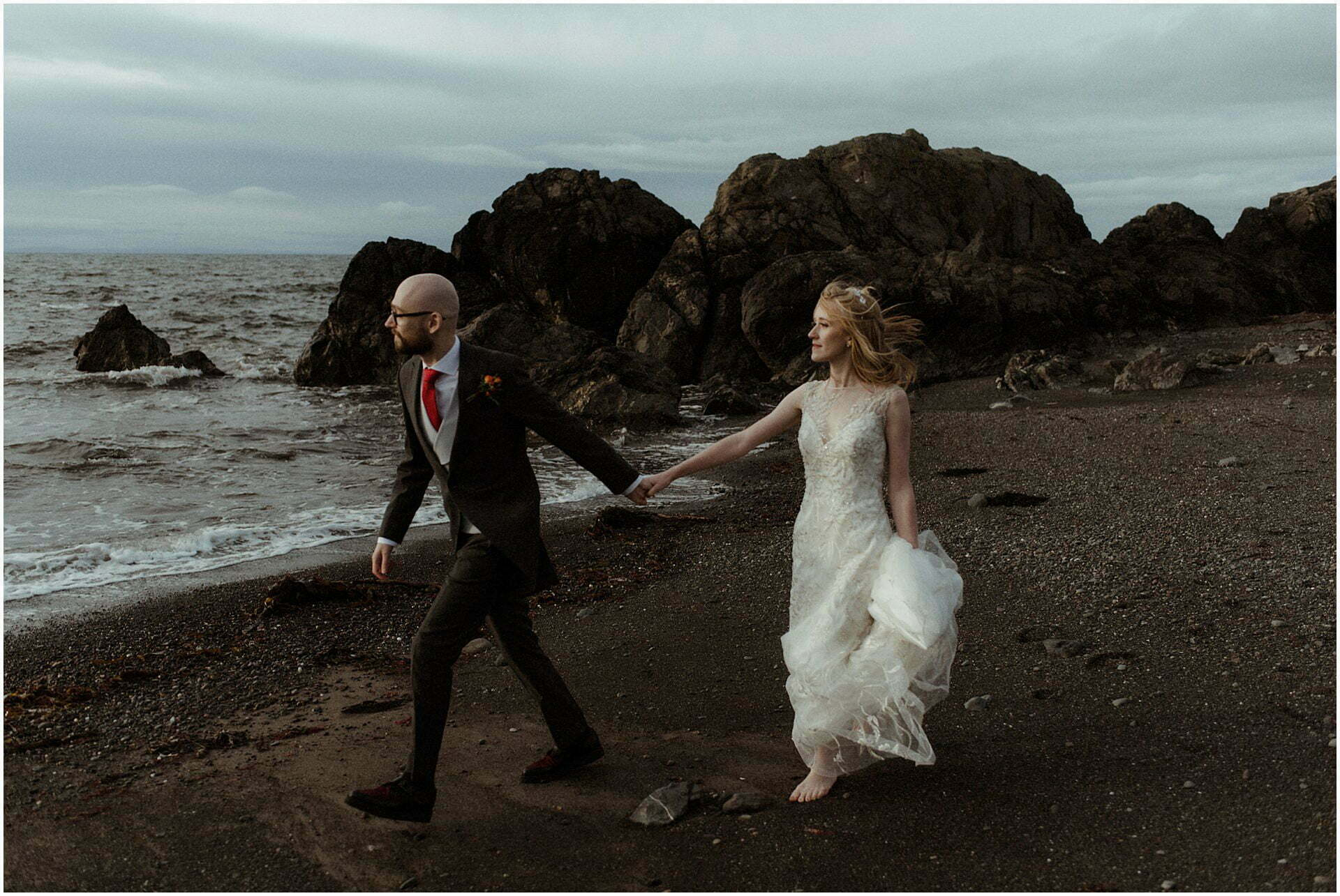 bride and groom during their elopement in Scotland