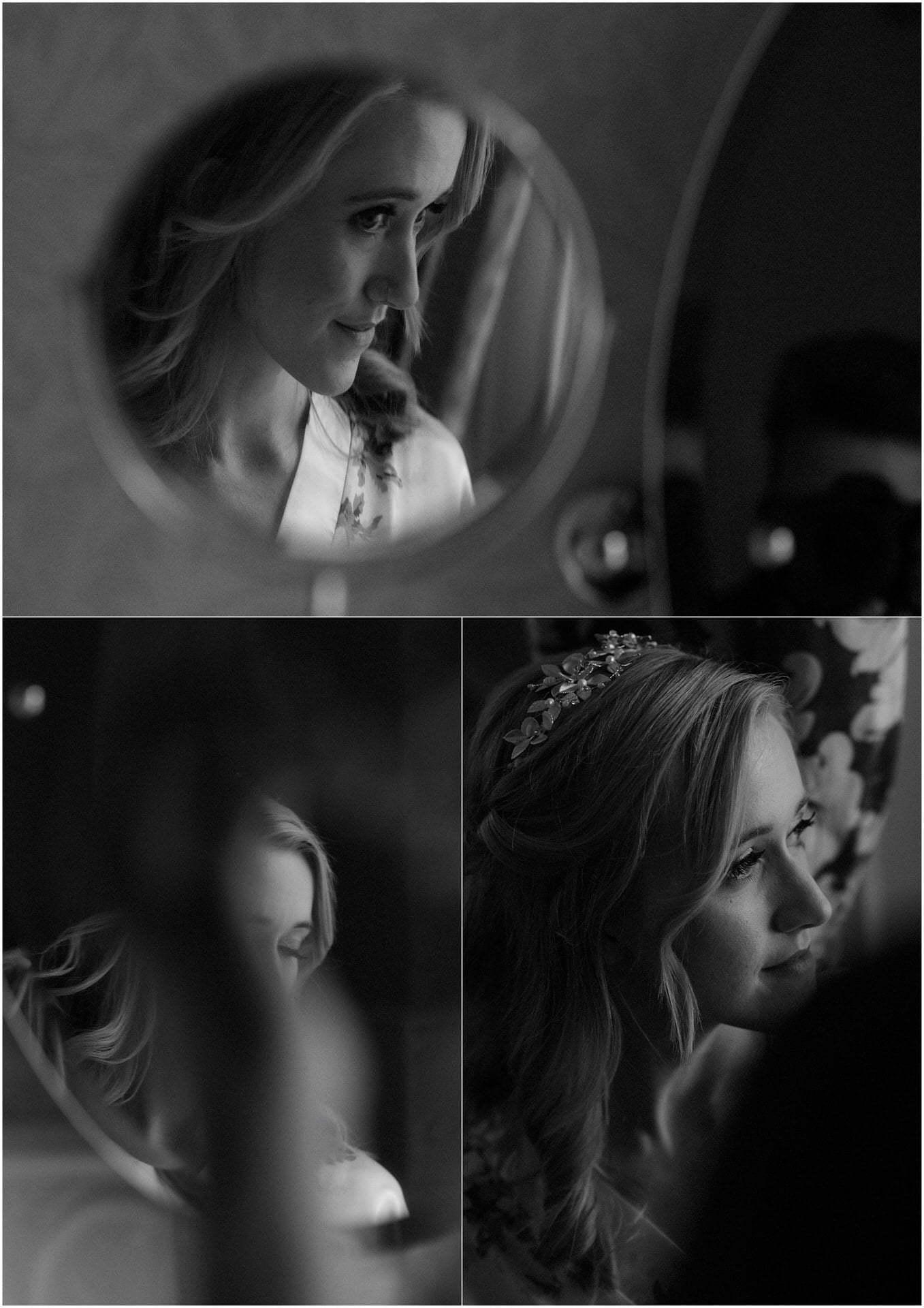 bride preparation during scotland elopement
