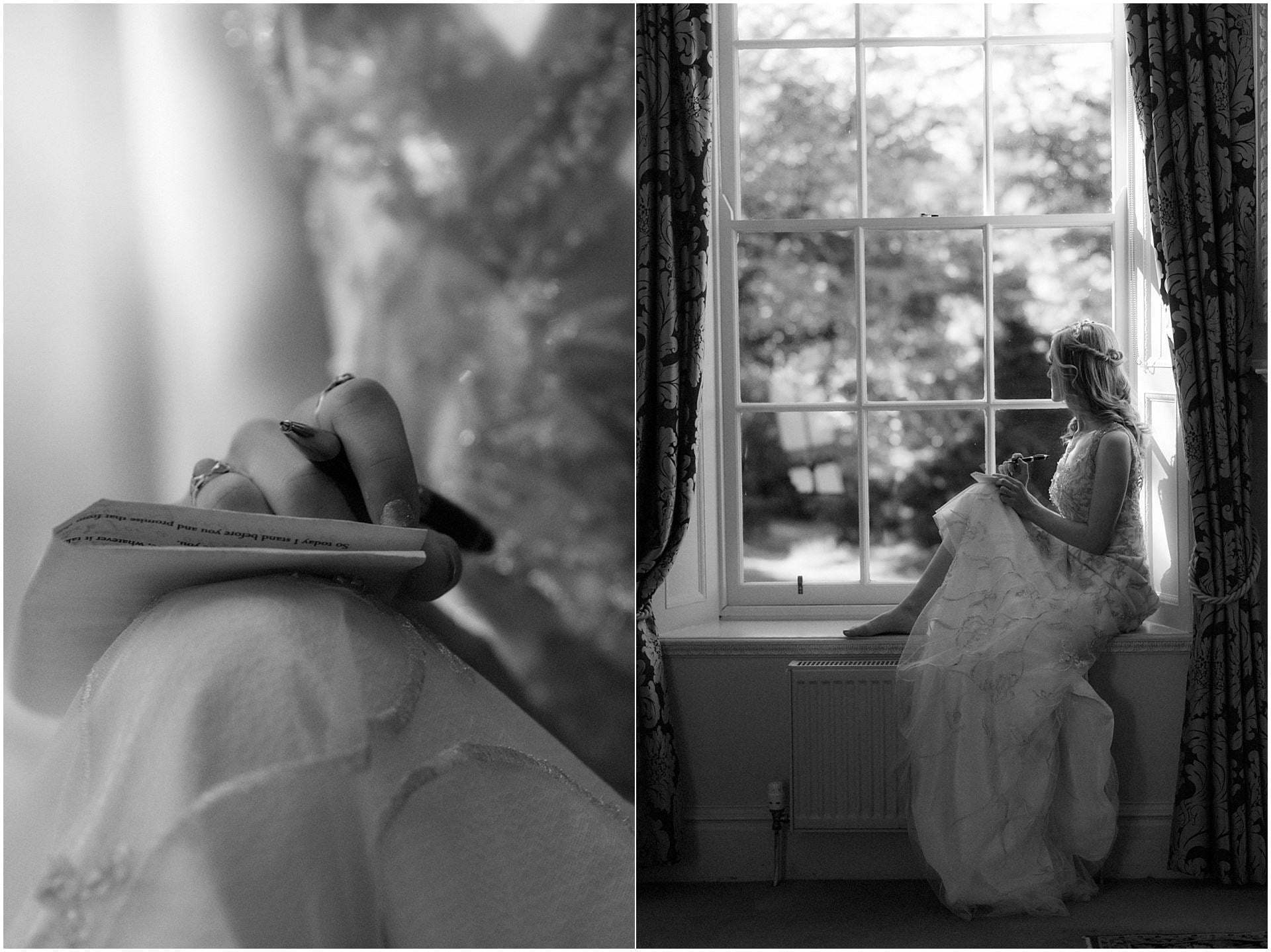 bride getting ready for her Scotland elopement on the west coast