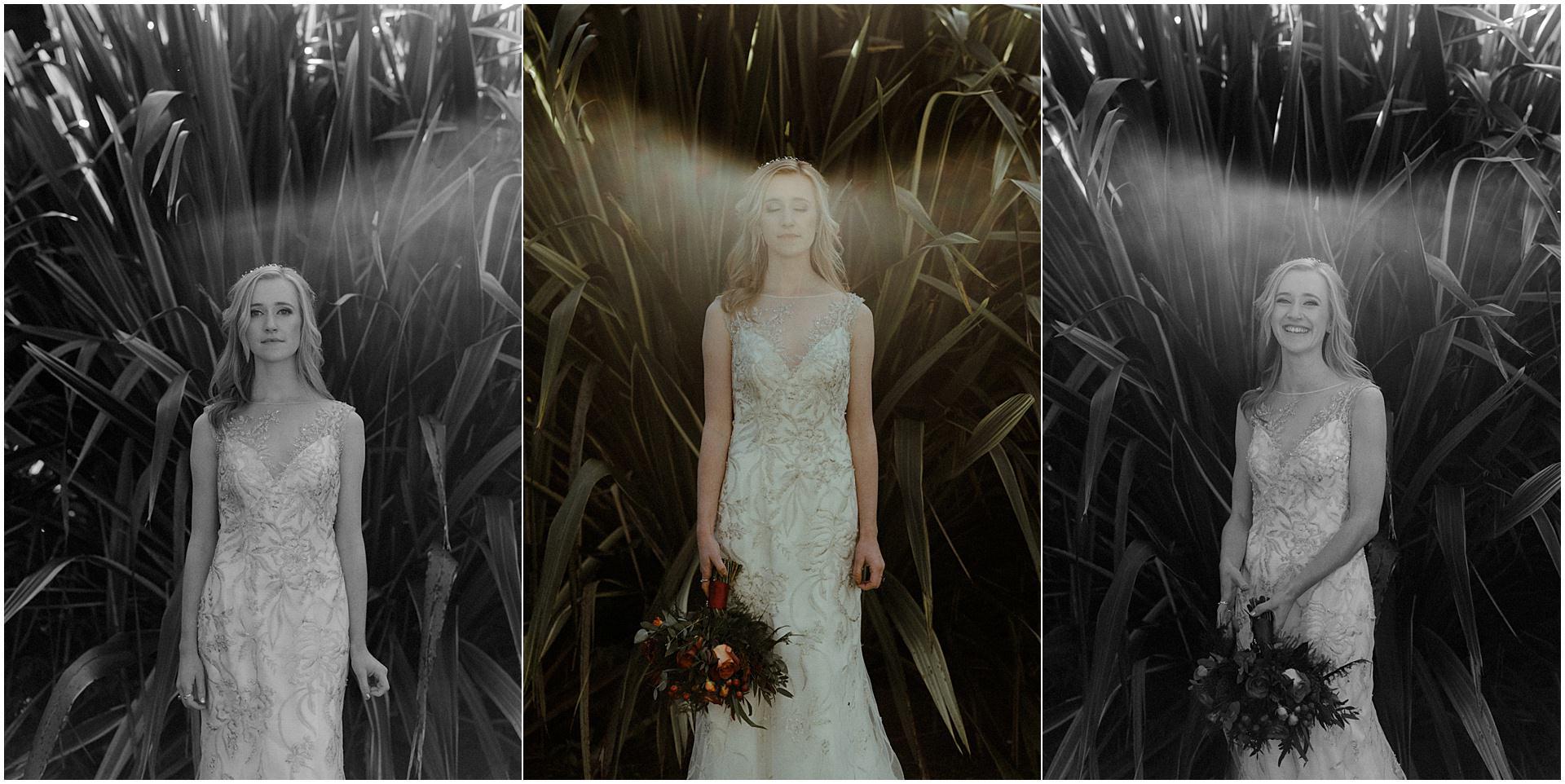 Scotland elopement on the West coast bridal portraits in the garden of Glenapp Castle