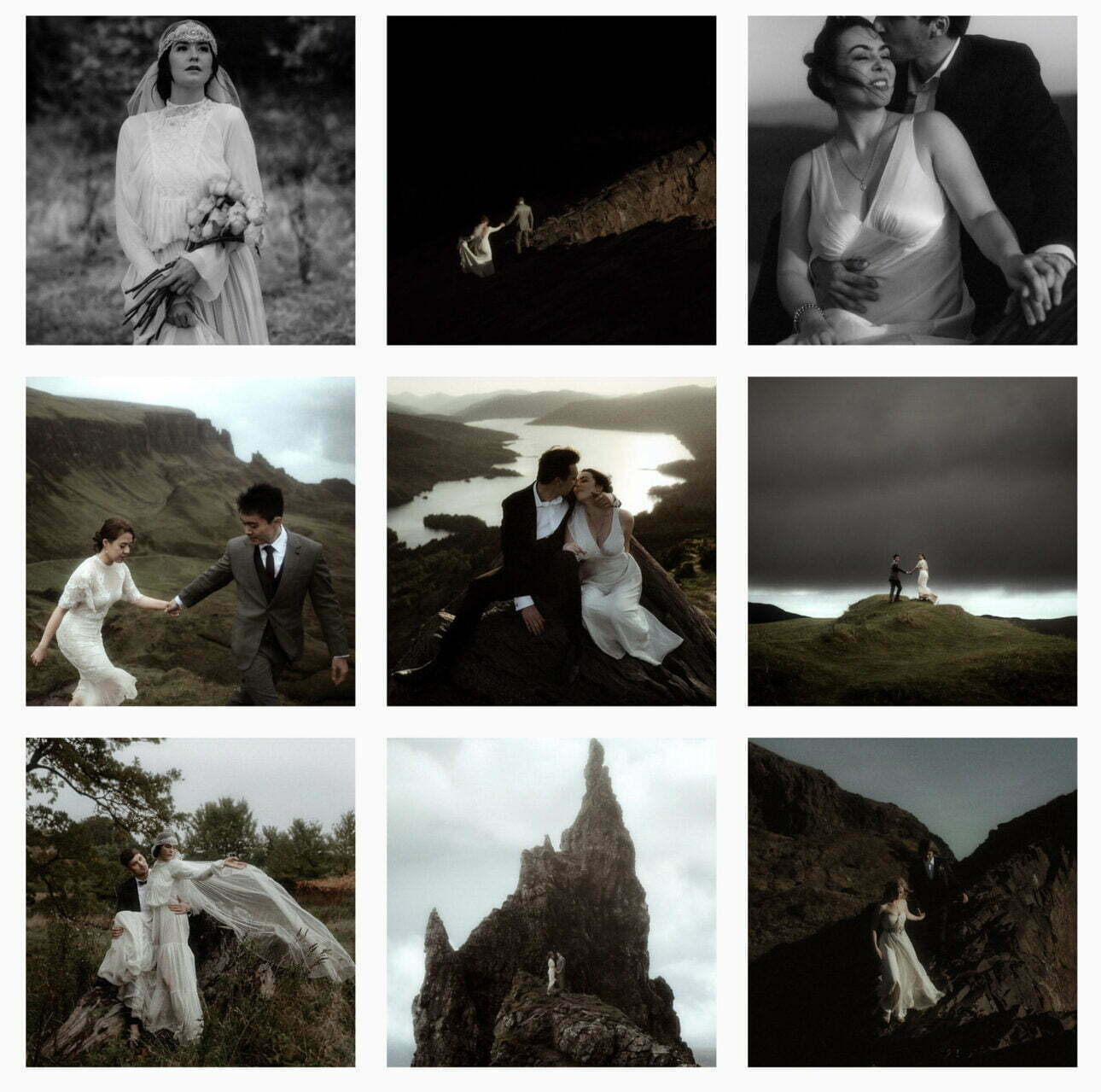couples in Scottish mountains eloping in Scotland
